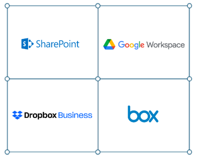 google drive, sharepoint, dropbox and box migrations