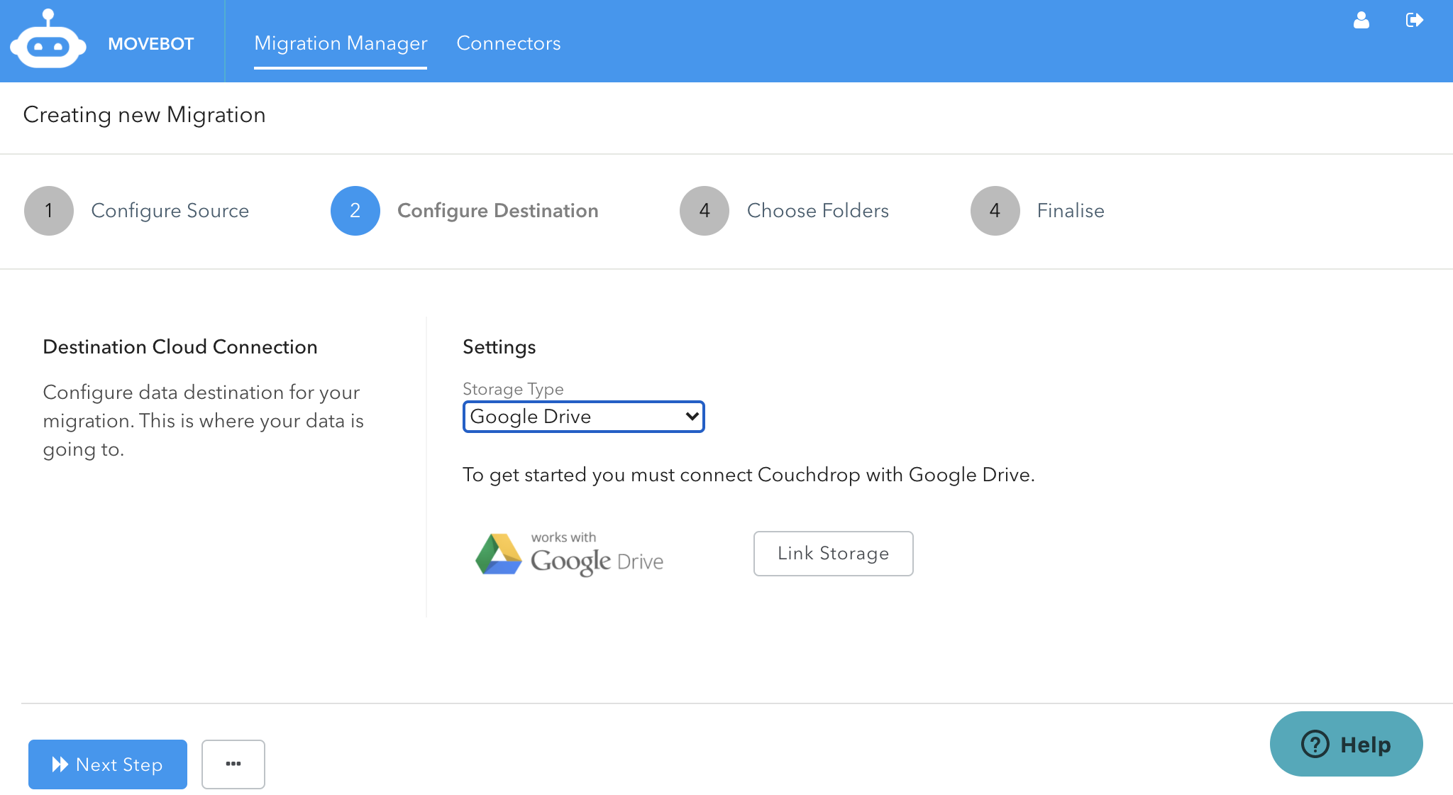 Configuring Google Drive for Transfer